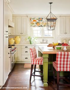 Shop the Look Cottage/Country Kitchen Design by Tobi Fairley Interior Design in Meadow View Country Kitchen Designs, Modern Kitchen Design, Interior Design Kitchen, Country Kitchens, New Kitchen, Kitchen Decor, Green Kitchen, Happy Kitchen, Awesome Kitchen