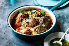 MEATBALLS AND OTHER QUICK MINCE RECIPES --- Forget spaghetti bolognese tonight and venture out with these quick and easy meatball and mince recipes that make for the perfect Sunday night dinner. Mince Recipes, Meatball Recipes, Cooking Recipes, Meatball Dish, Meatball Bake, Dutch Recipes, Savoury Recipes, Easy Cooking, Healthy Recipes