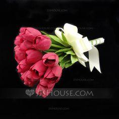 Wedding Flowers - $19.89 - Graceful Round Satin Bridal Bouquets (123031415) http://jjshouse.com/Graceful-Round-Satin-Bridal-Bouquets-123031415-g31415