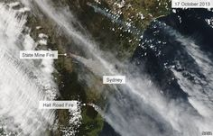 Click through for a VIDEO on this page. I couldn't pin the actual video. Satellite image of fires around Sydney