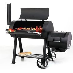 Charcoal Barbecue Smoker BBQ Cooking Garden Patio Outdoor Grill Wheels Chamber for sale online Best Smoker Grill, Bbq Pit Smoker, Barbecue Grill, Grilling, Charcoal Smoker, Smoker Cooking, Outdoor Cooking, Offset Smoker, Wheels