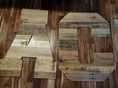 5 - 32 x 24 reclaimed pallet wood letters - The wood letters in this listing were made for one of our wonderful customers. YOUR letters will be the same size and font, but the wood will be different, just as beautiful, but with the pallet wood we use, we are constantly replenishing it.....