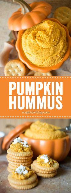 Serve up this Easy Pumpkin Hummus in adorable pumpkin bakers from #WorldMarket! #WorldMarketTribe