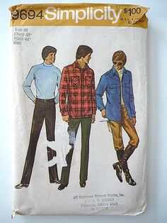 Vintage Sewing Pattern Men's 70's Mostly Uncut by Freshandswanky, $4.00