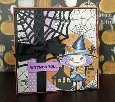 Card #4 from my 2012 Halloween Card Series by AmyR of Prairie Paper & Ink