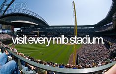 Visit every #MLB stadium - YES! #BucketList
