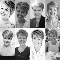 My pixie cuts of the past 2 years