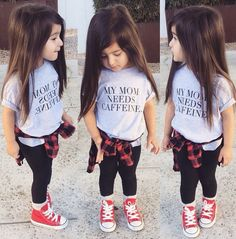Baby swag kids clothes t shirt my mom needs caffeine cool kid fashion baby swag Women, Men and Kids Outfit Ideas on our website at 7ootd.com #ootd #7ootd