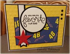 """airbornewife's stamping spot: MFTWSC257 """"YOU ARE MY FAVORITE.. NUFF SAID"""" Jimmie Johnson card"""