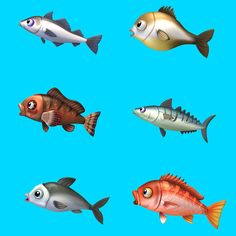 RS-fish by FunPlus Game on ArtStation. Game Icon Design, Casual Art, Prop Design, Game Ui, Fish Art, Amphibians, Cartoon Styles, Sea Creatures, Bait