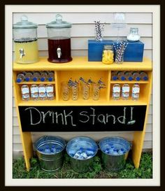 Headboard drink stand