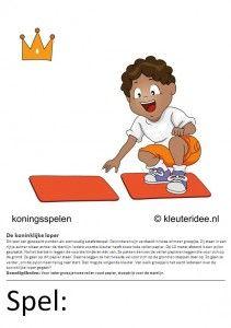 Kaarten voor koningsspelen no.4 , kleuteridee.nl