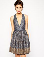 Buy ASOS RED CARPET Premium Skater Sequin Dress at ASOS. Get the latest trends with ASOS now. New Years Eve Dresses, Prom Dresses Uk, Casual Dresses, Formal Dresses, Nye Dress, Sequin Dress, Dress Up, Skater Dress, Holiday Party Dresses