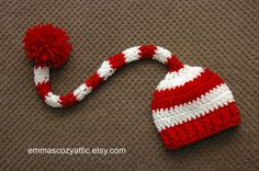 Baby Christmas hat elf hat long tail hat newborn baby girl boy christmas photography prop stocking hat cap on Etsy, $25.00