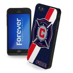 Forever Collectibles Chicago Fire iPhone 5 Case ($9.99) ❤ liked on Polyvore featuring accessories, tech accessories and team color