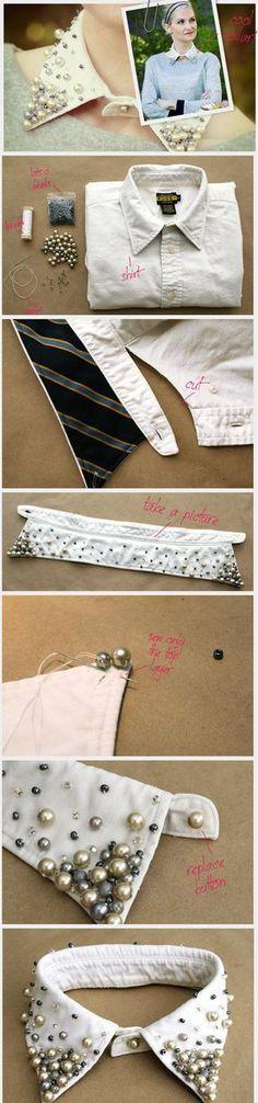 embellished shirt collar