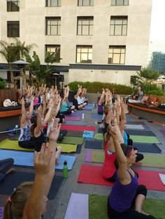 Yoga One Rooftop Yoga Class at the Solamar Hotel, Sundays at 9am, all-levels, flow.
