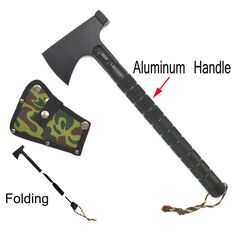 Jeep Outdoor multifunction camping tools axe aluminum folding Tomahawk axe fire fighting rescue survival Hatchet