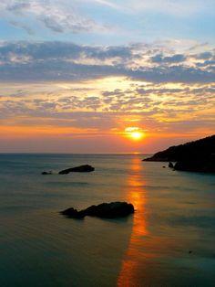 Sunset spectacle in Ulcinj, Montenegro http://www.untravelledpaths.com/untravelled_montenegro/home.html