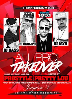 All Pro Takeover @ Jaguars3 Friday February 15, 2013
