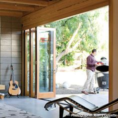 When I win the lottery, folding glass doors from the family room to the patio.