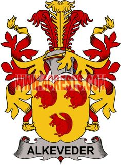 Alkeveder coat of arms / family crest #denmark #by name #symbol #family #shield #crest #by last name #genealogy #heraldry #shields #danish #tattoo #craft #logo