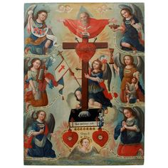Shop paintings and other wall décor and wall art from the world's best furniture dealers. Colonial Art, Spanish Colonial, Religious Images, Religious Art, Saints, Holy Mary, Sacred Art, People Art, Roman Catholic