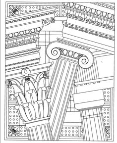archiscapes color your imagination wild coloring book mindware