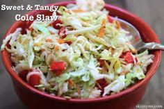 •1/2 cup apple cider vinegar •1/4 cup pure maple syrup •Kosher or sea salt to taste •1/4 cup canola oil •2 tablespoons Dijon Mustard •6 cups thinly sliced green cabbage •1/2 cup grated carrots •1/2 red bell pepper, diced •1/2 cup grated Vidalia Onion, or regional sweet onion •1 teaspoon caraway or celery seeds •1/2 teaspoon freshly ground black pepper .