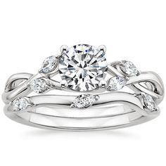 Platinum Willow Matched Set (1/4 ct. tw.) from Brilliant Earth