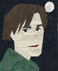Lupin Paper Pieced Block free pattern on Fandom in Stitches at http://www.fandominstitches.com/2011/05/harry-potter.html