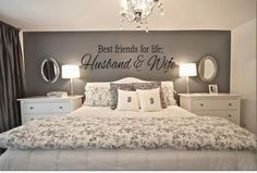 Are you and your husband or wife BFF's for life? Than this is the perfect Best Friends For Life Husband Wife Wall Art for your romantic bedroom ideas. - Home Decor Styles Dream Bedroom, Home Bedroom, Bedroom Wall, Warm Bedroom, Pretty Bedroom, Bed Room, Shabby Bedroom, Bedroom Neutral, Bedroom Quotes