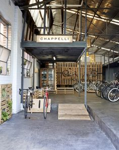 Australian firm Chappelli Cycles reaping the rewards for award-winning bike design Cafe Design, Store Design, Bicycle Store, Retail Shop, Retail Design, Australia, Outdoor Decor, Melbourne, Shopping