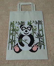 Papiernictvo - darčeková taška - panda - 6238272_