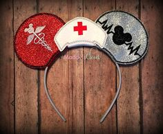 Nurse Themed Mickey Ears for The Nurses that Loves Disney