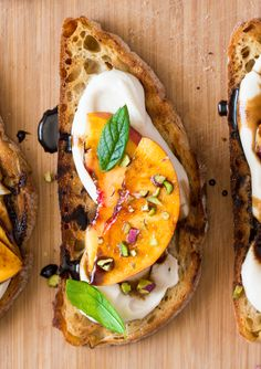 Vegan crostini with smoky white bean and nectarine makes a brilliant summer appetiser or an impressive, yet fuss-free, lunch.