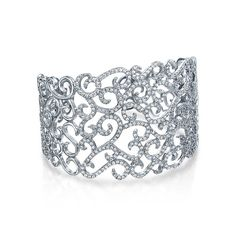 Christmas Gifts Cubic Zirconia Pave Swirl Bridal Cuff Bracelet Silver Plated >>> You can get more details here : Jewelry Bracelets