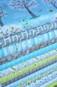 backyard baby - pretty blue fabric - http://www.hawthornethreads.com/