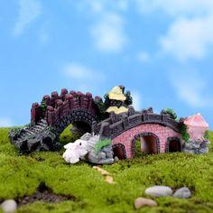 2Pcs/Lot Decoden Kawaii Cabochon Crafts Decorations Miniature Arch Bridge Gnome Terrarium Xmas Party Garden Gift K6683 Michen