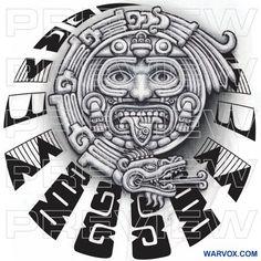 Aztec Tattoos Sleeve, Aztec Tribal Tattoos, Aztec Tattoo Designs, Aztec Art, Aztec Designs, Geometric Tattoos, Aztec Symbols, Mayan Symbols, Viking Symbols