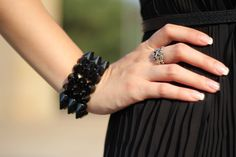 Venoma's fashion diary: Look of the day: Black and Blue #jewelry #bracelet #ring