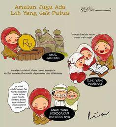 Amalan-amalan yang tidak terputus Doa Islam, Islam Muslim, Allah Islam, Muslim Quotes, Islamic Quotes, Islamic Cartoon, Anime Muslim, All About Islam, Learn Islam