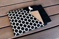 iPad cover / iPad Case / iPad Sleeve  Black and by chubbycloud, $25.00