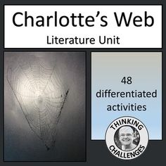 Are you looking for a complete set of no prep activities for your literacy center to accompany the book 'Charlotte's Web?' This unit contains 48 differentiated activities for middle school/ early secondary students and will save you hours of planning time. Middle School, Back To School, Charlottes Web, Thematic Units, Upper Elementary, Literacy Centers, Teacher Pay Teachers, Teacher Newsletter, Critical Thinking