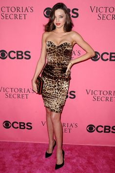 Miranda Kerr. LOVE LOVE LOVE her and her leopard sexy dress!!!!