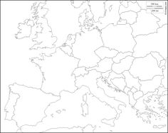 Blank map of central europe