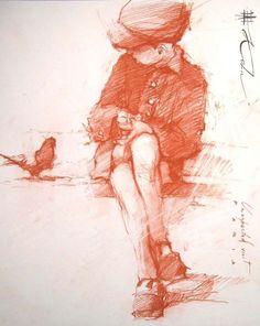 Por amor al arte: Andre Kohn Figure Painting, Figure Drawing, Painting & Drawing, Life Drawing, Drawing Sketches, Art Drawings, Sketching, Art Du Croquis, Art Et Illustration