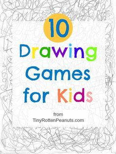A collection of 10 quick and easy drawing games to get kids moving a pencil across a piece of paper. Art Projects For Kids from TinyRottenPeanuts.com