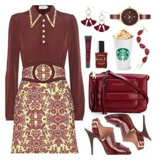 """""""I Need My PSL"""" by deborah-calton ❤ liked on Polyvore featuring Coach, Marc Jacobs, Giuseppe Zanotti, Lane Bryant, Lauren B. Beauty, INC International Concepts, Anne Klein and Humble Chic"""