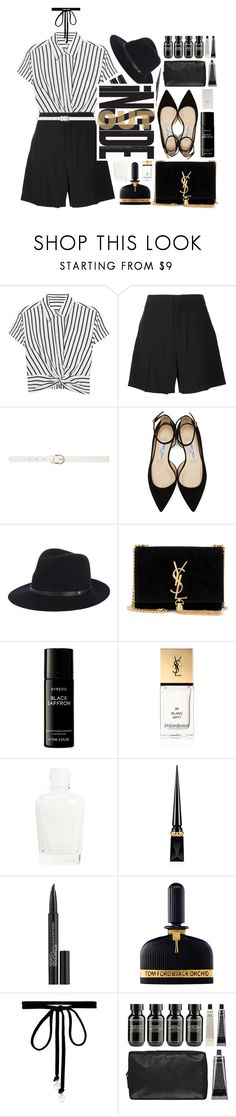 """""""down"""" by dffn-dn ❤ liked on Polyvore featuring T By Alexander Wang, Chloé, Dorothy Perkins, Jimmy Choo, rag & bone, Yves Saint Laurent, Liberty, Christian Louboutin, Smashbox and Tom Ford"""